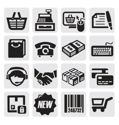 shopping icons vector image