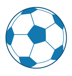 Blue soccer ball vector