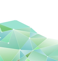 Crystal structure green border background vector