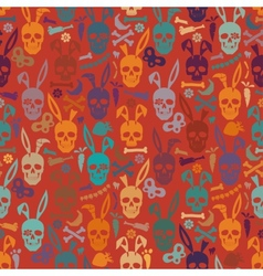 Bunny skull wallpaper vector