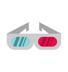 3D cinema glasses icon flat style vector image