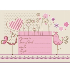 Baby girl cute card vector