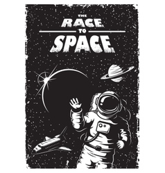 Vintage space poster vector image