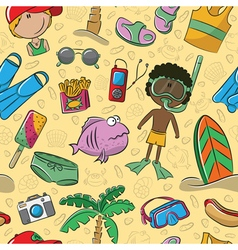 Summer beach pattern vector