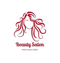 Beauty salon icon with girl vector