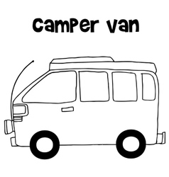 Camper van of vector