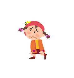 cartoon character of a dizzy girl vector image vector image