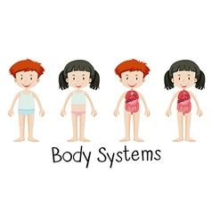 Children and body systems vector
