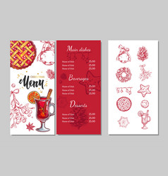 Christmas winter menu 2 vector