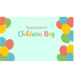 collection stock of childrens day colorful balloon vector image