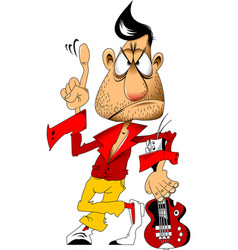 cool rocker vector image
