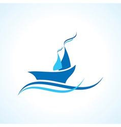 creative yacht or boat design vector image vector image