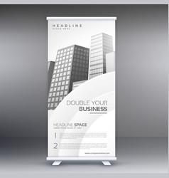 Elegant white standee roll up banner design vector