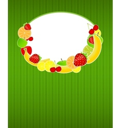 Healthy food menu template vector image