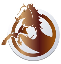 horse icon vector image vector image