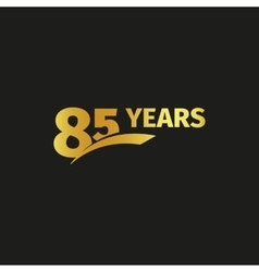 Isolated abstract golden 85th anniversary logo on vector