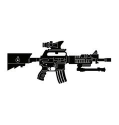 isolated weapon vector image vector image