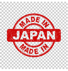 Made in japan red stamp on isolated background vector