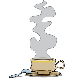 mug with a hot drink vector image vector image