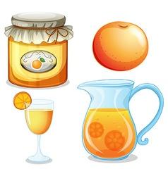 Orange set vector image vector image