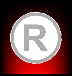 Registered trademark sign postage stamp or old vector
