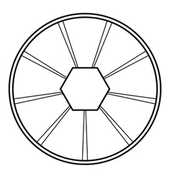 Round diagram icon outline style vector image