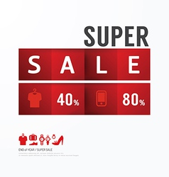 Sale Discount Icons Styled Advertising Tag vector image
