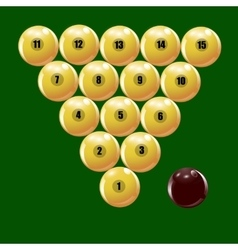Set of balls to play russian billiards vector