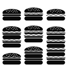 Set of Different Hamburger Icons vector image