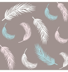 Vintage Feather seamless background Hand drawn vector image vector image