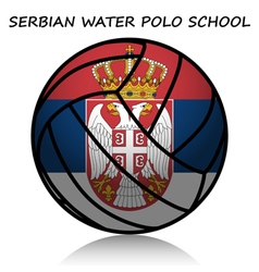 Serbian water polo school vector