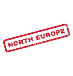 North europe rubber stamp vector