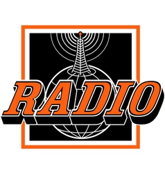 Radio broadcast logo vector