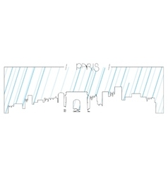 Isolated skyline of Paris vector image
