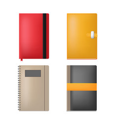 note book paper collection set vector image