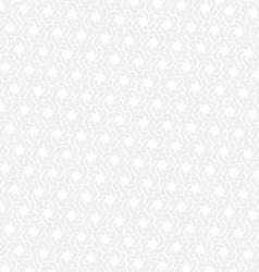 White hexagon seamless retro background vector image