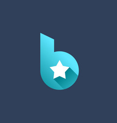 Letter b star logo icon design template elements vector