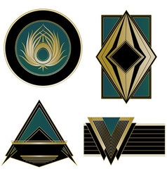 Art deco logos and design elements vector