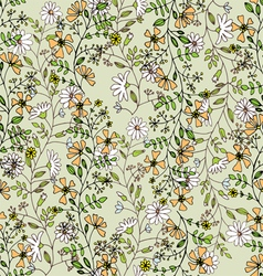 Seamlessly pattern with flowers vector