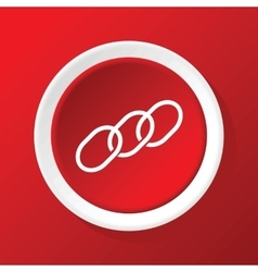 Chain icon on red vector