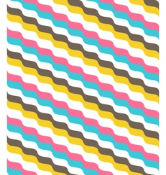 Seamless bright abstract wave pattern vector