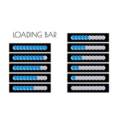 Blue loading bars vector