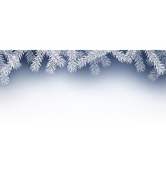Winter background with fir branches vector