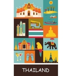 Symbols of thailand vector