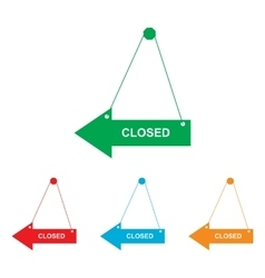 Closed sign colorfull set vector