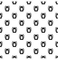 Backpack pattern vector