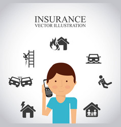 Best insurance concept icons vector