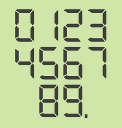 calculator digits and dot vector image