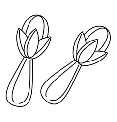 Cloves icon outline style vector