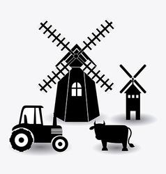 Farm design vector image